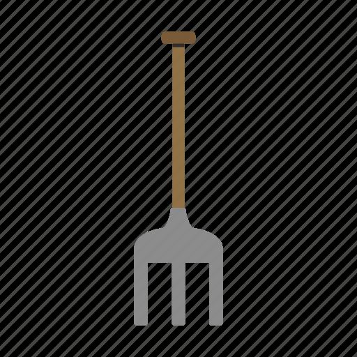 garden, gardening, nature, rake, tool, work icon