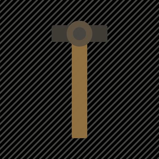 garden, gardening, hammer, tool, work icon