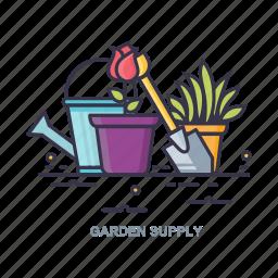 garden, plant, sovel, supply icon