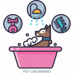 bath, gromming, pet, shampoo icon