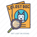 found, lost, pet, photo icon
