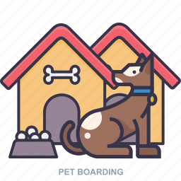 boarding, dog, house, pet icon