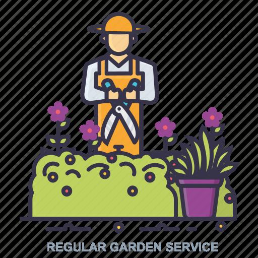 garden, plant, regular, service icon