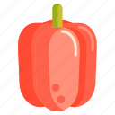 bell, pepper, vege, vegetables icon