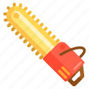 chainsaw, saw icon