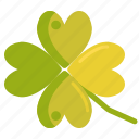 clover, four leaf clover, four leaves clover, luck, lucky icon