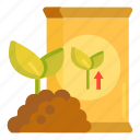 fertiliser, fertilizer, soil icon