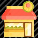 floral shop, florist, flower shop icon