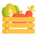 fruit basket, groceries, harvest icon