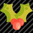 berry, cherry, christmas, mistletoe, nature