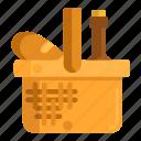 basket, picnic, picnic basket icon