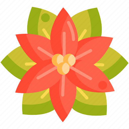 Floral, flower, poinsettia icon - Download on Iconfinder