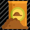 fertiliser, fertilizer, potting, soil icon