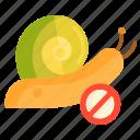 control, snail, snail control icon