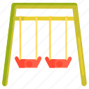 playground, swing, swings icon