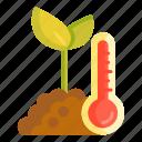 soil temperature, temperature icon