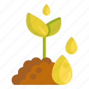 gardening, seedling, water icon