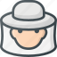 apiary, apiculture, bee, beekeeper, farming, hat icon