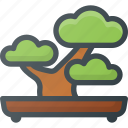 bonsai, garden, nature, plant, relax, tree icon