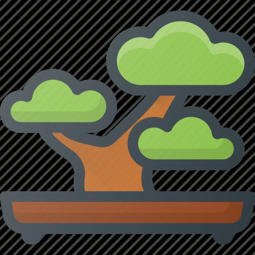 bonsai, garden, nature, plant, relax, tree icon