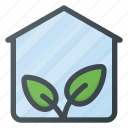 bio, ecology, gardening, glasshouse, greenhouse, natural, plant icon