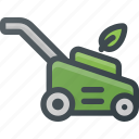 gardening, grass, lawn, mower icon