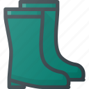 equipment, gardening, gumboot, rain, rainboots, rubber, wellingtons icon