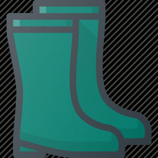 equipment, gardening, gumboot, rain, rainboots, rubber, wellingtons icon
