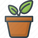 bio, eco, gardening, green, growing, natural, planting icon