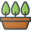 bio, distance, eco, gardening, green, natural, planting icon