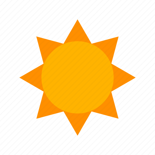 clouds, design, nature, orange, rays, sky, sun icon