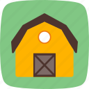 barn, house, silo icon