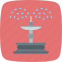 fountain, park, water icon
