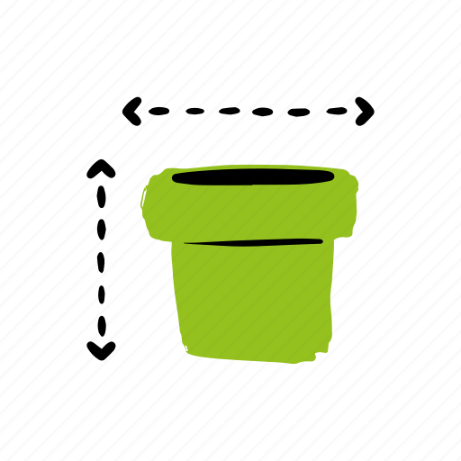 container, garden, jar, plant, pottery icon