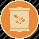 fertilizer, sack, seed icon