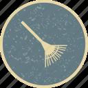 garden, gardening, rake icon