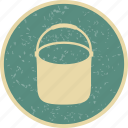 bucket, pail, pot icon