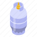 business, isometric, gas, house, cartoon, cylinder, butane icon
