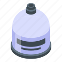 gas, isometric, cylinders, hand, house, bottle, cartoon icon