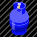 business, isometric, cylinders, gas, cartoon, propane, logo icon