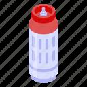 gas, isometric, cylinders, house, cartoon, logo, lpg icon