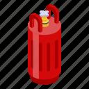 gas, isometric, tank, cartoon, energy, fuel, industry icon