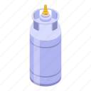gas, isometric, computer, cooking, food, cartoon, cylinder icon