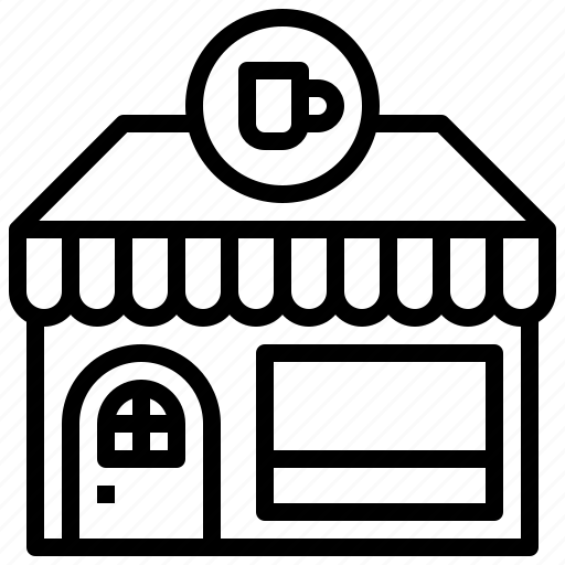 buildings, business, coffee, restaurant, shop, store icon