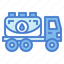 oil, petrol, tanker, transportation, truck icon