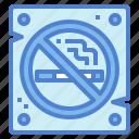 no, prohibition, signaling, smoke, warming icon