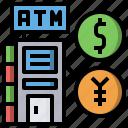 atm, cash, machine, money icon