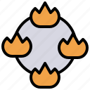 combustion, explosion, flame, flaming, flammable, nature, signaling icon