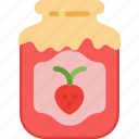 dessert, glass, jam, sugar, sweet icon
