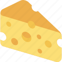 cheese, food, healty, milk, piece icon